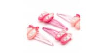 4 PACK OF GIRLS PINK BALLET SHOES DANCE HAIR CLIPS