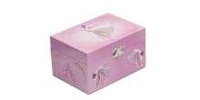GIRLS PINK BALLET DANCE MUSIC JEWELLERY BOX CHEST