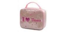 PINK SATIN SCHOOL BALLET I LOVE DANCE SHOE /LUNCH BOX /HAND BAG