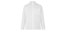 White Long sleeved school shirt