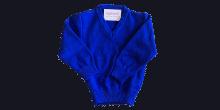 Royal blue V neck jumper