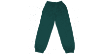 Green fleece track suit bottoms